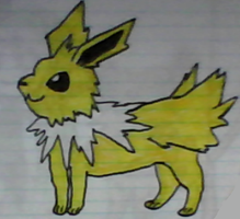 Jolteon drawing by SusanLucarioFan16