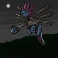 Dark flight. Hydreigon by Wings-Dragon