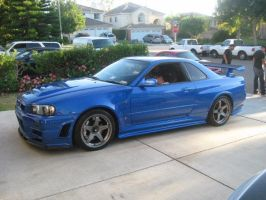Nissan R34 Skyline GT-R in the U.S. Soil by granturismomh