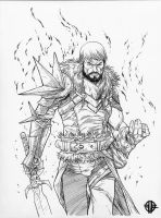 Dragon Age 2 Hawke inks by BrettBarkley