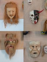 Traditional Mexican Masks by IdunaHayaPhotography