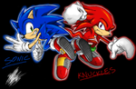 Sonic and Knuckles by ShockRabbit