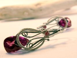 Alexandrite Earrings by FILIGRY