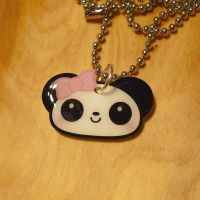 Girly Panda Necklace by Panduhmonium