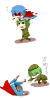 Flippy and splendid chibis :3 png by saeuchiha