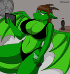 Request: Jade Moontail the Dragoness by XizzDot