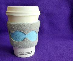 Prototype Mustache Coffee Cozy by stefania-zee