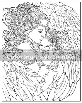 Art of Meadowhaven Coloring Page: A Mother's Love by Saimain