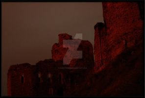 Kidwelly Castle by night by creativemee