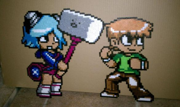 Ramona Flowers and Scott Pilgrim by Schrimpyoctopus