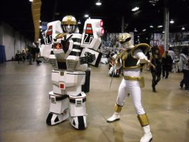 White Power Ranger With White Zord Cosplay by Lionofdemise