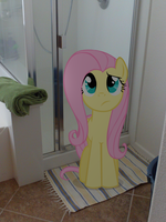 My Little Fluttershy: Get In The Shower by JudgementMaster