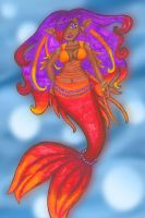 Commish_Sunset Mermaid by Tanis711