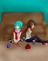 .:CE - Chillin With Chocolate and Pepsi:. by EriaHime