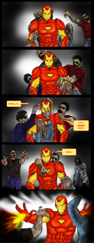 Iron Man vs. zombies by 00-TabulaRasa-00