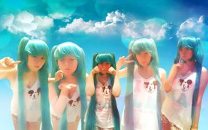 Miku ~ SummerTime Cosplay by SilverAppleStock