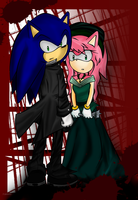 Amy and Sonic by yanin15