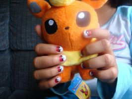 Pokeball Nails by CowlyCows