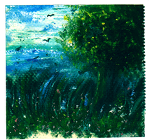 Oil painting on paper towel by Sweetly25