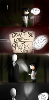Slender and the midget by TheHomicidalPigeon