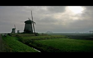 Netherlands Windmills by Thrill-Seeker
