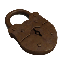 old padlock by darkadathea