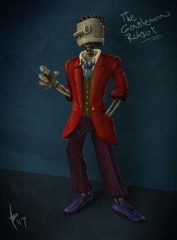The Gentleman Robot by WhiteCanvasSky