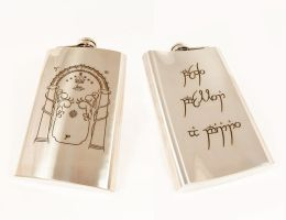 Flask with Moria Gate by Katlinegrey
