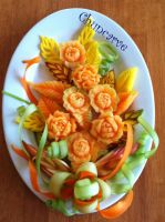 Melon Bouquet Platter by Chuncarv