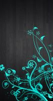 Black Wood/Blue Flower - Box Background Example by Wave-Glacier