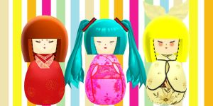 Download Kokeshi dolls (MMD) by YamiSweet