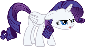 Rarity hates being an Alicorn by TheNuzzlet3000