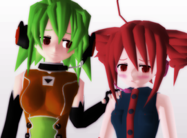 _MMD_ Let's fade away together by xXHIMRXx
