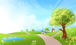 Spring Background Scene 2 by CARFillustration
