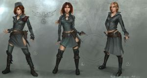 leutnant female designs by MichalKus