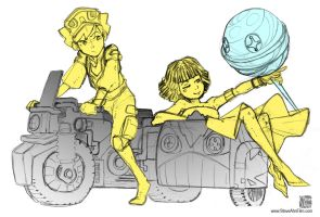 Conceptual sketch - Motorcycle with kids by SteveAhn
