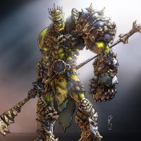 Warrior Orc by DazTibbles