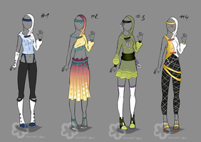 Some Outfit Adopts #8 - sold by Nahemii-san