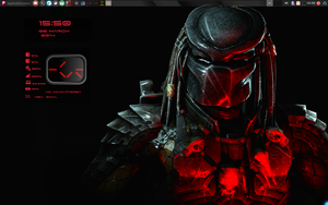The Red Predator with Conky by speedracker