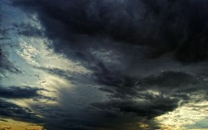 cloud sky summer storm background stock by amka-stock