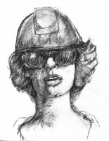 Hard Hat and Shades by LevonHackensaw