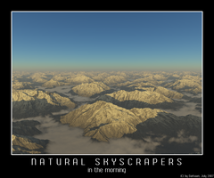 Natural Skyscapers - Morning by Darkaan