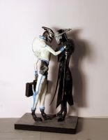 Mass Effect - Saren and Nihlus sculpture by virtualmorrigan