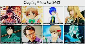 Cosplay Plans for 2013 by HRecycleBin