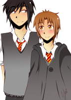 Sirius and Remus: Happy time by Sirio12