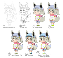 Big Chibi Process by NauticalSparrow
