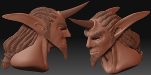 Orc Bust in ZBrush by CrimsonGear