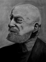 Charcoal: Older Male by MzzAzn