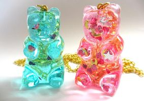 Gummy Bear Necklaces by pinkminx