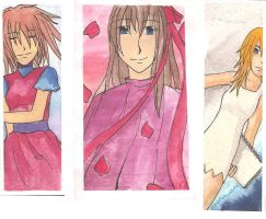 Watercolor Bookmarks by Chuushiri